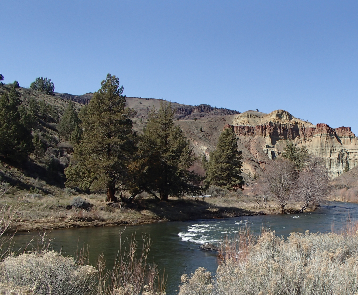 John Day River and Castle Rock